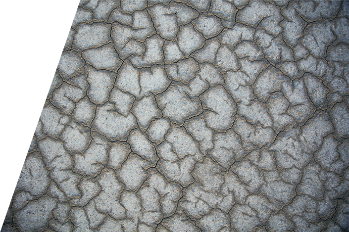 Ground in the desert
